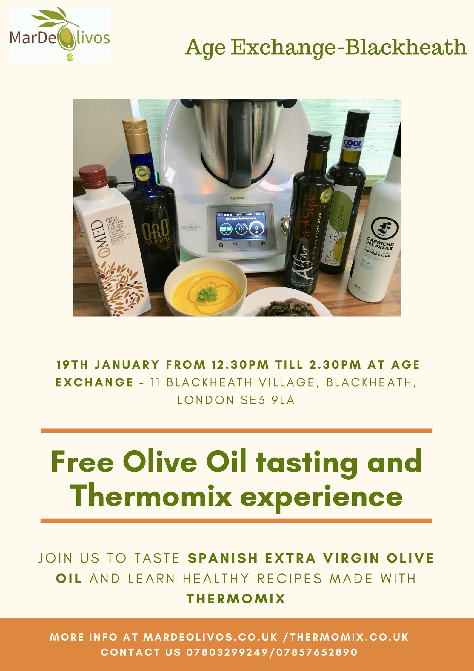 Free Olive Oil Tasting event in Blackheath